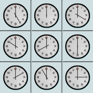 Clocks with different time zoneの写真素材 [FYI03506038]