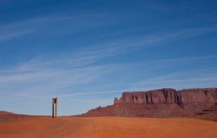 Monument Valley Tribal Park, Navajo, Arizona, USAの写真素材 [FYI03509183]