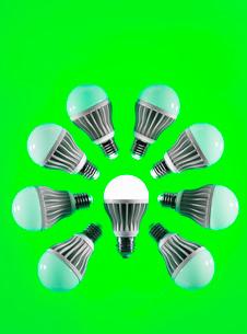 Energy saving LED lightbulbsの写真素材 [FYI03512356]