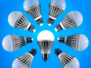 Energy saving LED lightbulbsの写真素材 [FYI03512358]