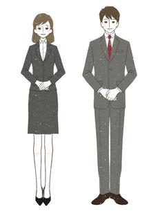スーツ-女性-男性のイラスト素材 [FYI03514337]