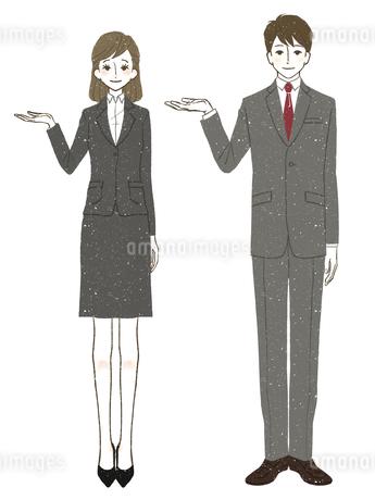 スーツ-女性-男性のイラスト素材 [FYI03514348]