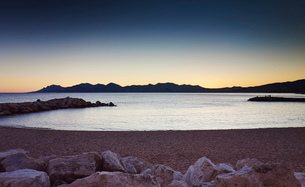 Tranquil scene, French Riviera, Cannes, Franceの写真素材 [FYI03514886]
