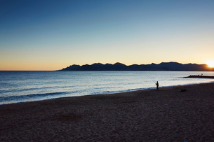 Tranquil scene, French Riviera, Cannes, Franceの写真素材 [FYI03514889]