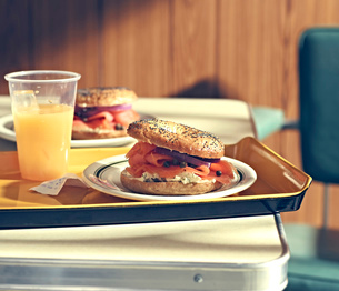New York Style Diner Series - Bagel Cream Cheese Loxの写真素材 [FYI03518005]