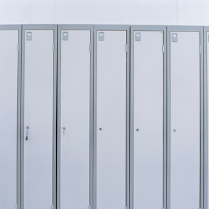 Detail of lockers in laboratoryの写真素材 [FYI03522421]
