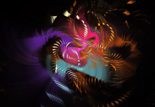 Fractal flames. Image courtesy of Stanley Weddingtonの写真素材 [FYI03525977]