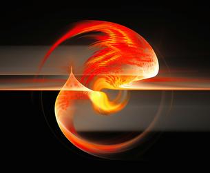 Fractal flames. Image courtesy of Stanley Weddingtonの写真素材 [FYI03525991]