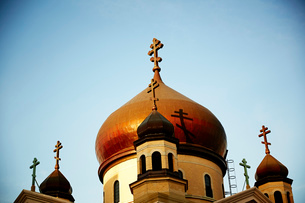 Russian Orthodox Cathedral of the Transfiguration, Brooklyn, New York, USAの写真素材 [FYI03527434]