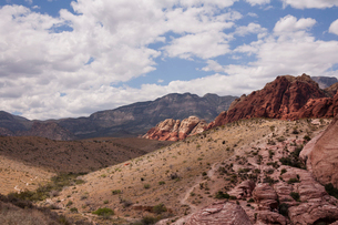 Red Rock Canyon National Conservation Area landscape, Las Vegas, Nevada, USAの写真素材 [FYI03529042]