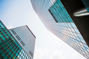 Skyscrapers, low angle view, New York, USAの写真素材 [FYI03530053]