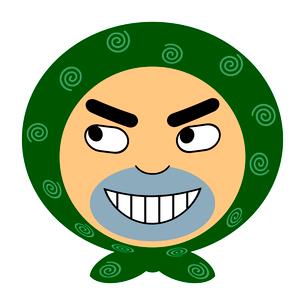 泥棒の顔アイコンのイラスト素材 [FYI03530476]