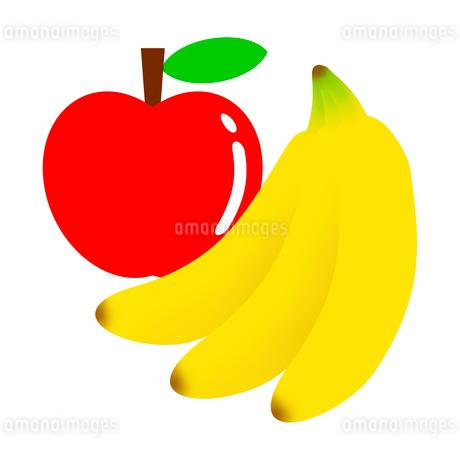 リンゴとバナナのイラスト素材 [FYI03530477]