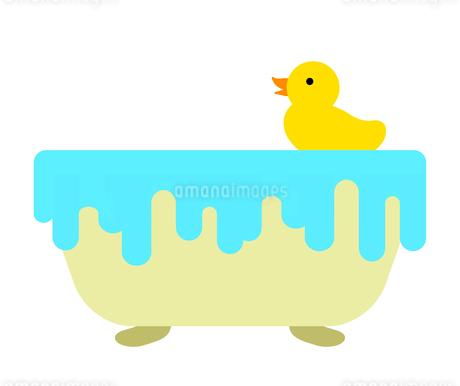 浴槽に浮かぶアヒルのイラスト素材 [FYI03530480]