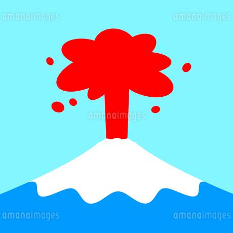 富士山の噴火のイラスト素材 [FYI03530517]