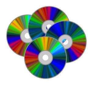 重なるディスクのイラスト素材 [FYI03530798]