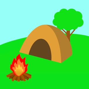 キャンプ場のイラスト素材 [FYI03530800]
