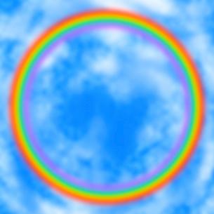 空に架かる虹の輪のイラスト素材 [FYI03531122]