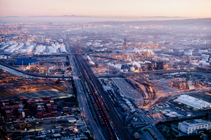 Aerial view of Los Angeles, California, USAの写真素材 [FYI03532545]
