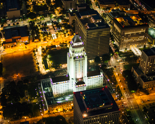 Aerial view of Los Angeles, California, USAの写真素材 [FYI03532554]