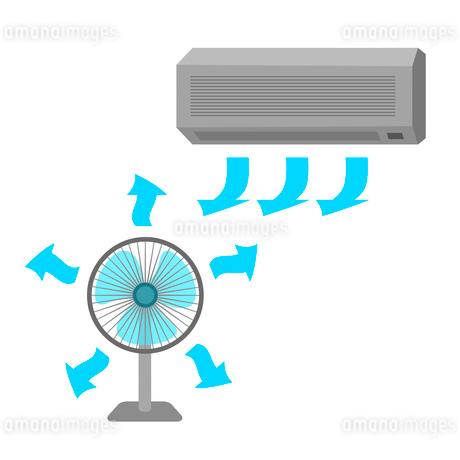 エアコンと扇風機のイラスト素材 [FYI03533418]