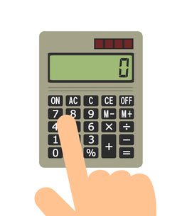 電卓で計算のイラスト素材 [FYI03533439]