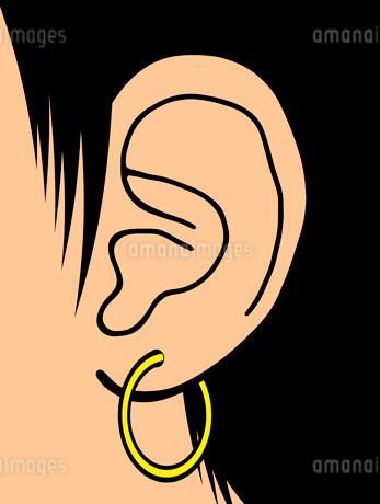 ピアスを付けた耳のイラスト素材 [FYI03533440]