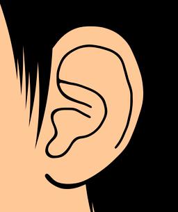 人の耳のイラスト素材 [FYI03533441]