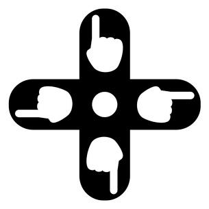 指マークのついた十字キーのイラスト素材 [FYI03533448]