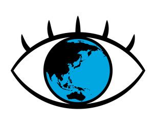 瞳の中の地球のイラスト素材 [FYI03533705]
