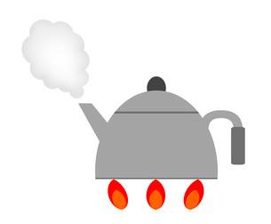 沸騰するヤカンのイラスト素材 [FYI03533734]