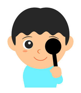 視力検査のイラスト素材 [FYI03533735]