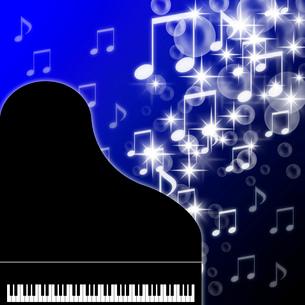 ピアノと輝く音符のイラスト素材 [FYI03534027]
