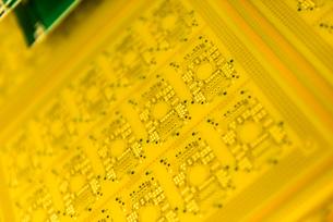 Circuit board detail in circuit board factoryの写真素材 [FYI03534135]