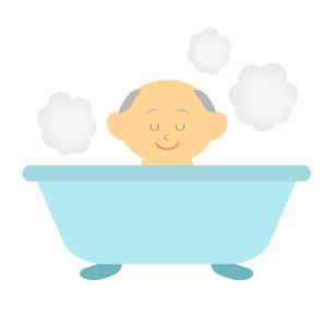 お風呂に入るおじいさんのイラスト素材 [FYI03534325]