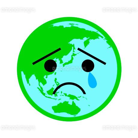 泣いている地球のイラスト素材 [FYI03534771]