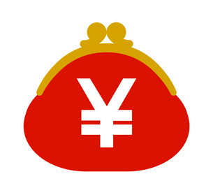 円マークつきの財布のイラスト素材 [FYI03534785]