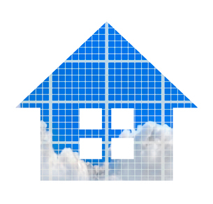 空の映る家のイラスト素材 [FYI03535143]