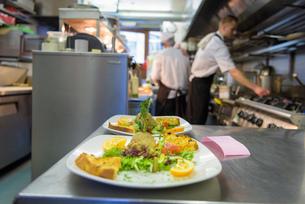 Pate dish in traditional Italian restaurant kitchenの写真素材 [FYI03541780]