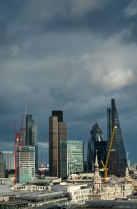 City of London skyline, London, UKの写真素材 [FYI03542627]