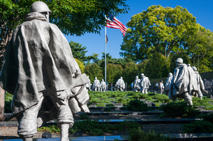 Korean War Veterans Memorial, Washington, USAの写真素材 [FYI03543101]