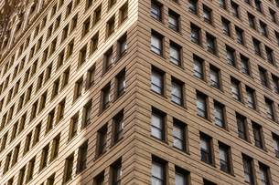 Detail of office building corner, Philadelphia, USAの写真素材 [FYI03548166]