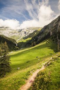 Scenic view, Flims, Graubuenden, Switzerlandの写真素材 [FYI03553978]
