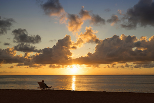 Sunset on Miami Beach, Florida, USAの写真素材 [FYI03555002]
