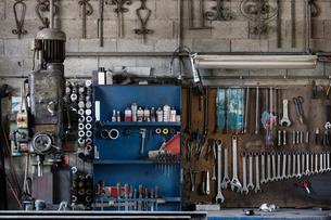 Variety of carpentry toolsの写真素材 [FYI03557471]