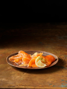 Smoked scottish salmon and trout selectionの写真素材 [FYI03557962]