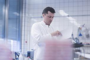 Scientist working in laboratoryの写真素材 [FYI03558523]