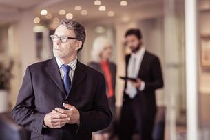 Senior businessman at meetingの写真素材 [FYI03558629]