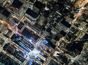 Aerial view from helicopter of Midtown, New York, USAの写真素材 [FYI03558827]