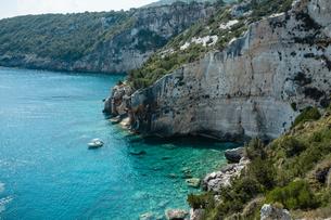 Blue caves, Zante, Greeceの写真素材 [FYI03559330]